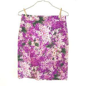 J.Crew Size 8 Floral Pencil Skirt